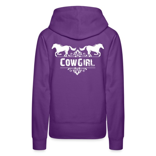 Cowgirl, chevaux - Sweat-shirt à capuche Premium pour femmes