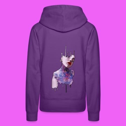 icream girl - Sudadera con capucha premium para mujer