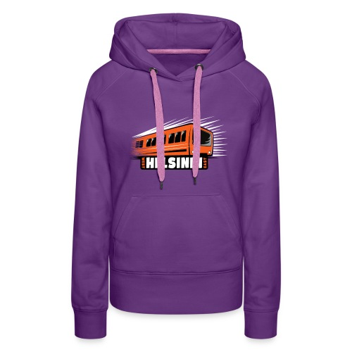 Helsinki Metro T-Shirts, Hoodies, Clothes, Gifts - Naisten premium-huppari
