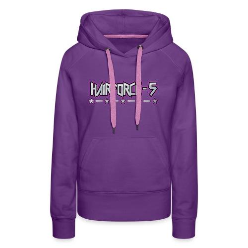 HF5 stars logo chrome - Women's Premium Hoodie