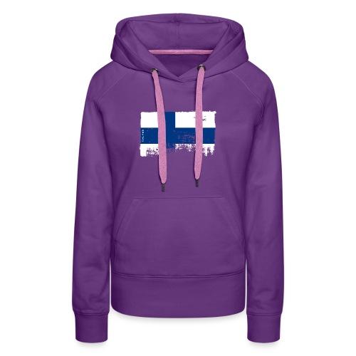 Suomen lippu, Finnish flag T-shirts 151 Products - Naisten premium-huppari