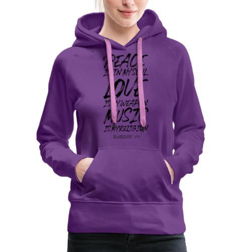 Djecko blk - Sweat-shirt à capuche Premium pour femmes