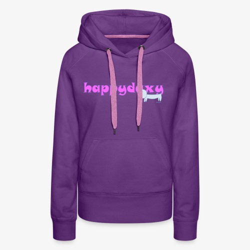 Happy Daxy Pink by Sue Anderson - Women's Premium Hoodie
