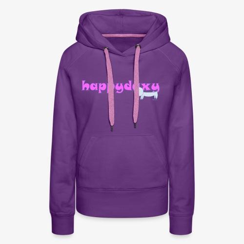Happy Daxy Pink by Sue Anderson - Women's Premium Hoodie