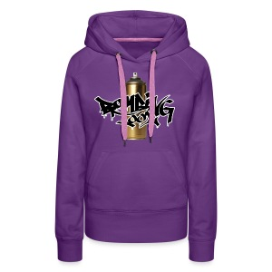 Golden Spray Can Bombing Tool - Sudadera con capucha premium para mujer