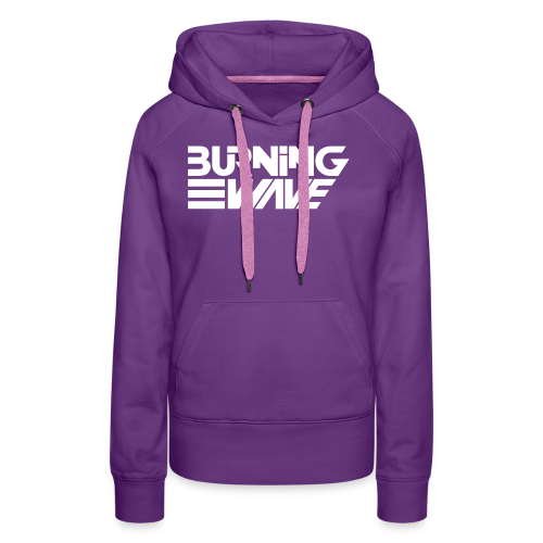 Burning Wave Block - Sweat-shirt à capuche Premium pour femmes
