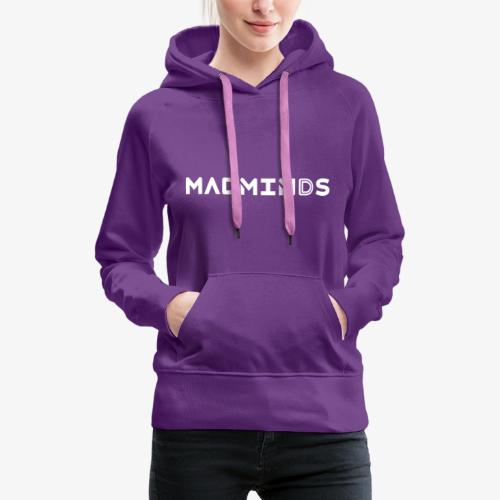 Mad minds traditional logo - Felpa con cappuccio premium da donna