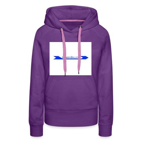 logo touletmarc - Sweat-shirt à capuche Premium pour femmes