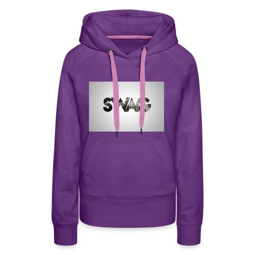 _SWAG CAMS - Sweat-shirt à capuche Premium pour femmes