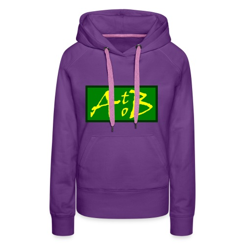 AtoB Logo green / yellow - Women's Premium Hoodie
