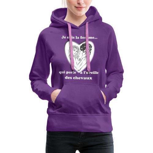 Cheval femme qui parle à l'oreille des chevaux FS - Sweat-shirt à capuche Premium pour femmes