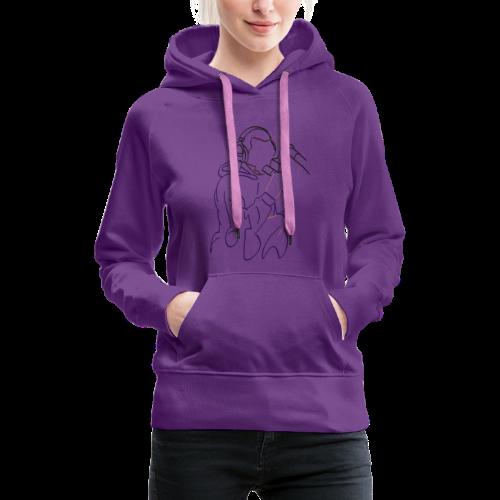 Foda FanArt - Sweat-shirt à capuche Premium pour femmes
