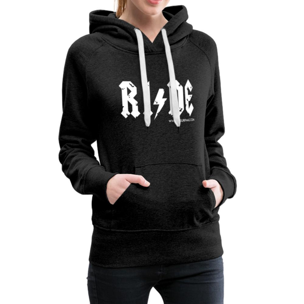 RIDE - Women's Premium Hoodie - charcoal grey