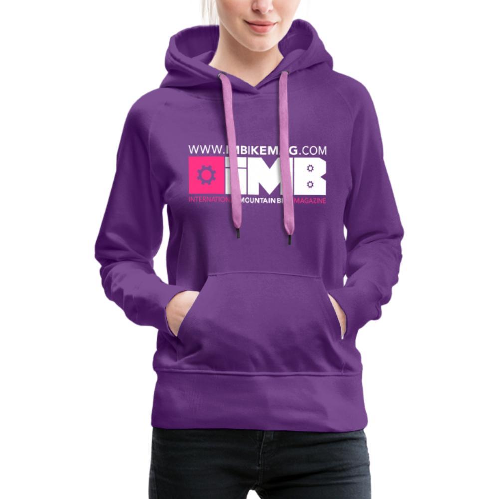 IMB Logo - Women's Premium Hoodie - purple