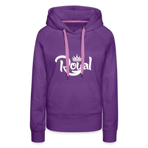Royal Logo White Edition - Women's Premium Hoodie