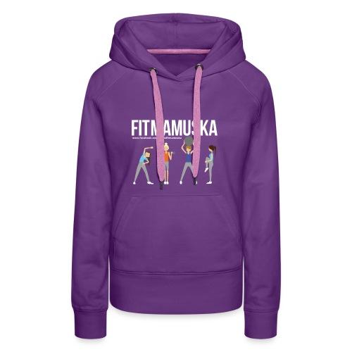 Fitmamuśka - Koszulka Czarna - Bluza damska Premium z kapturem