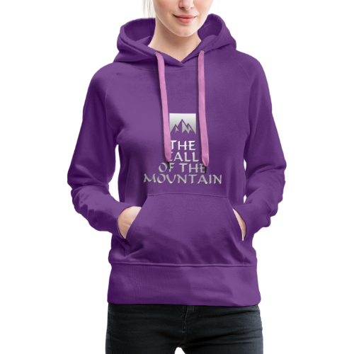 The Call Of The Mountain - silver - Women's Premium Hoodie