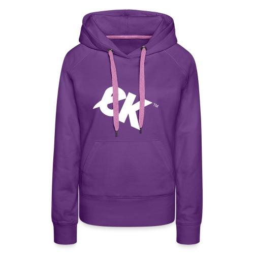 EK logo wit #1 - Vrouwen Premium hoodie
