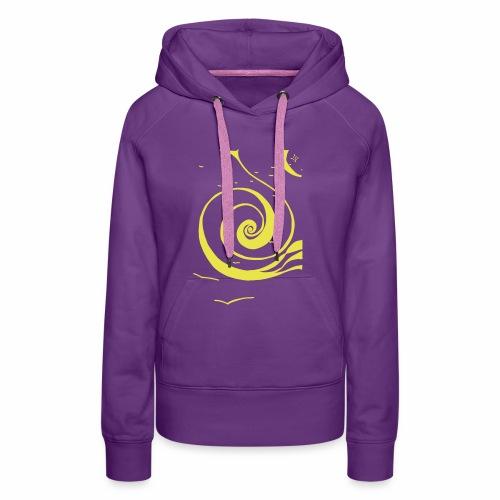 Une spirale de lumière ! - Sweat-shirt à capuche Premium pour femmes