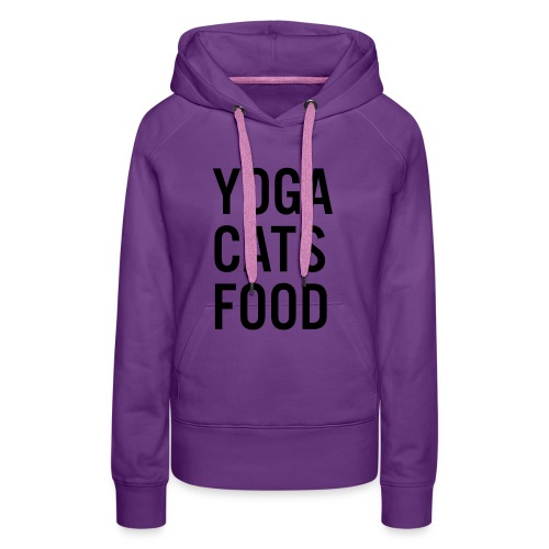YOGA CATS FOOD LADIES ORGANIC T-SHIRT - Premiumluvtröja dam
