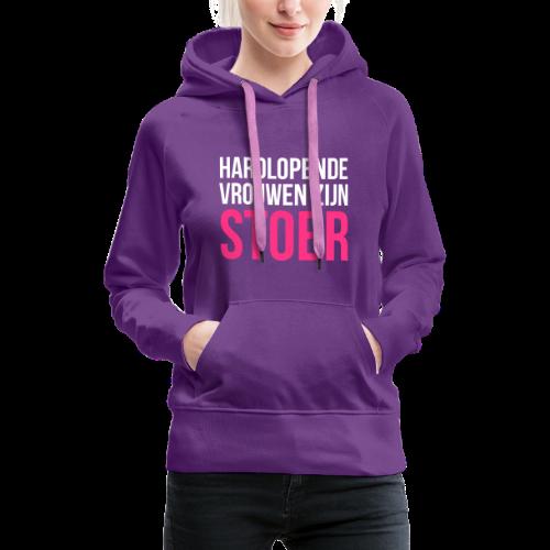 hardlopende vrouwen zijn stoer - Vrouwen Premium hoodie