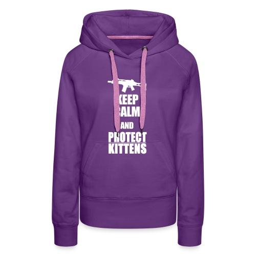Keep Calm and Protect Kittens - Frauen Premium Hoodie