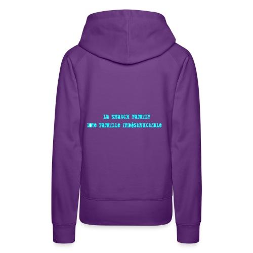 snatch family - Sweat-shirt à capuche Premium pour femmes