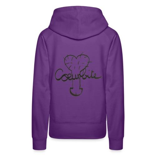 Coeurbite - Sweat-shirt à capuche Premium pour femmes