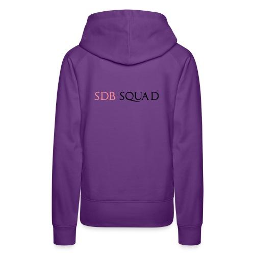 SDB SQUAD - Felpa con cappuccio premium da donna