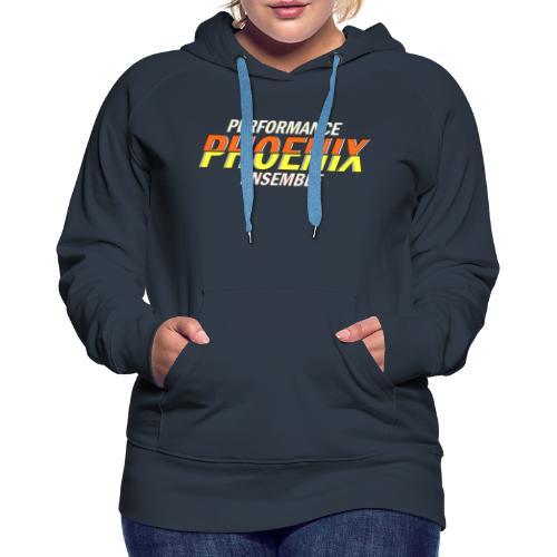 Phoenix Distorted Yellow - Frauen Premium Hoodie