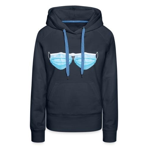 Soutien gorges Covid-19 (Masque) - Sweat-shirt à capuche Premium pour femmes