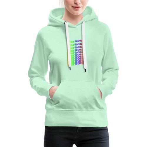 Parkour rainbow - Dame Premium hættetrøje