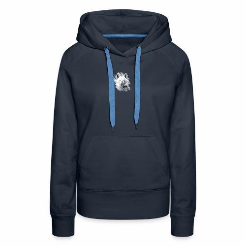 Wolf-logo_full - Sweat-shirt à capuche Premium pour femmes