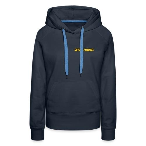 Ratrap Channel Wording - Sweat-shirt à capuche Premium pour femmes