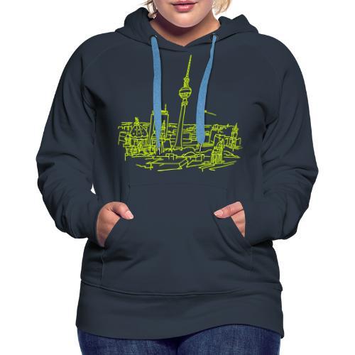 Berlino Panorama - Felpa con cappuccio premium da donna