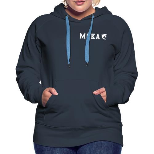 moka shark - Dame Premium hættetrøje