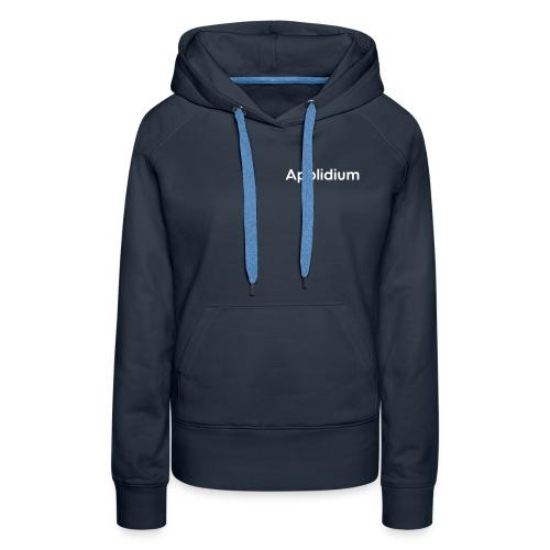Applidium Text - Sweat-shirt à capuche Premium pour femmes