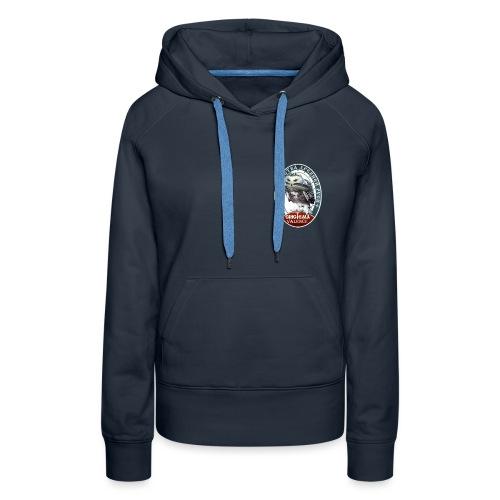 Logo avant + dos - Sweat-shirt à capuche Premium pour femmes