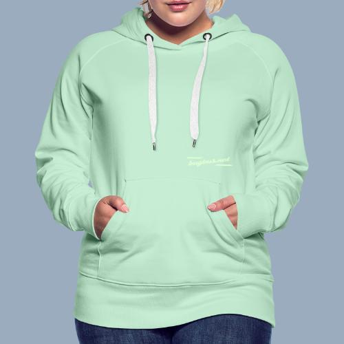 BB LOGO Typo only - Women's Premium Hoodie