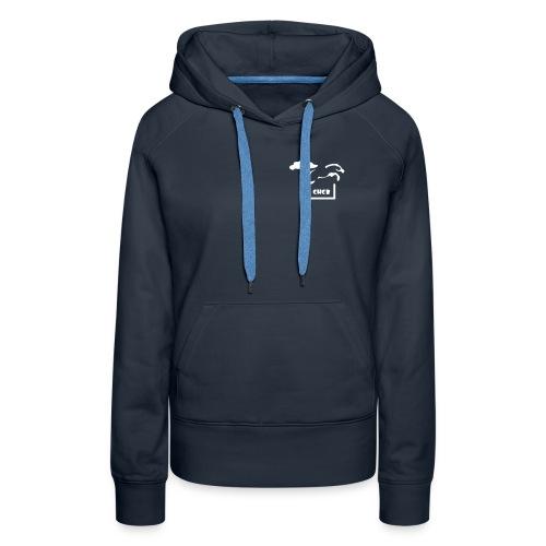 chcb logovecto petit22 - Sweat-shirt à capuche Premium pour femmes