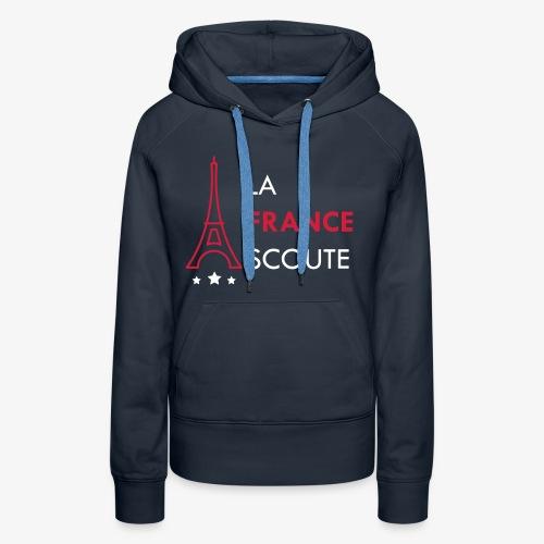 Eiffel Scout - Sweat-shirt à capuche Premium pour femmes