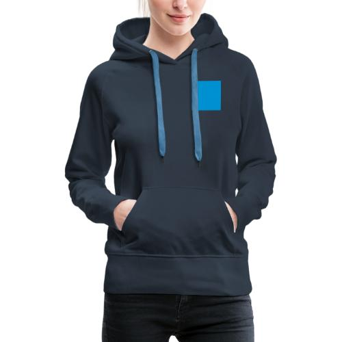 Sweat Carré Bleu - Sweat-shirt à capuche Premium pour femmes