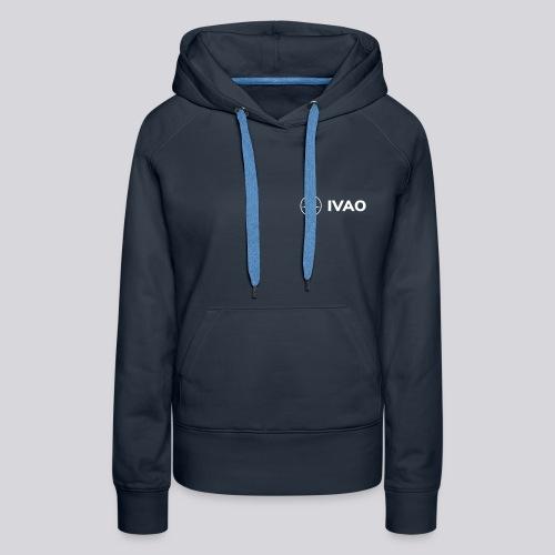IVAO (Logo Complet Blanc) - Sweat-shirt à capuche Premium pour femmes