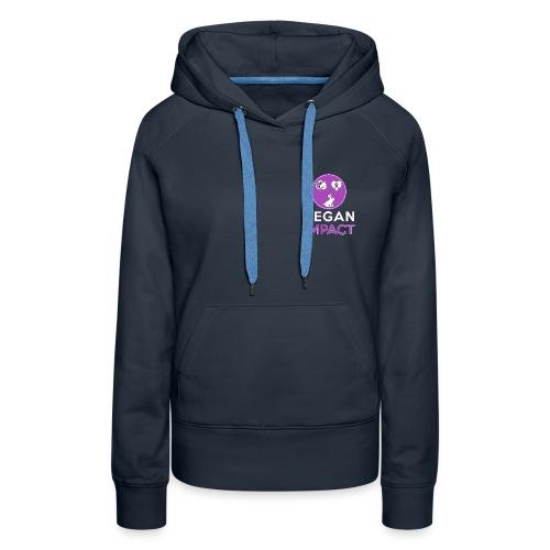 Logo carré court pour goo - Sweat-shirt à capuche Premium pour femmes