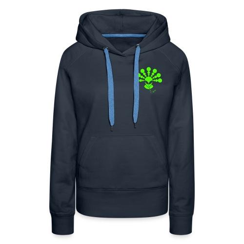 The Smoking Alien Green - Women's Premium Hoodie
