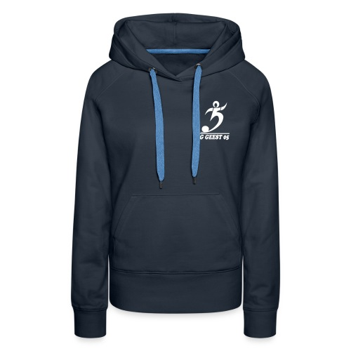 sg geest 05 logo navy - Frauen Premium Hoodie
