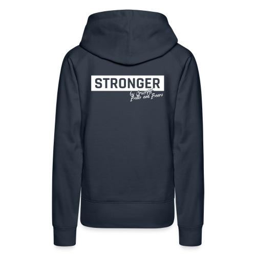 STRONGER - white - Frauen Premium Hoodie