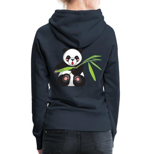 Panda x Levitation Blanc - Sweat-shirt à capuche Premium pour femmes