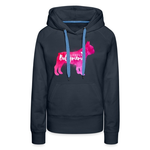 Liebende Bullymama - Französische Bulldogge - Frauen Premium Hoodie
