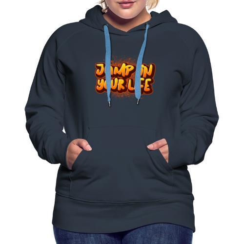 La vie... - Sweat-shirt à capuche Premium pour femmes